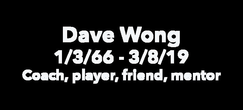 Memorial Dave Wong 2019