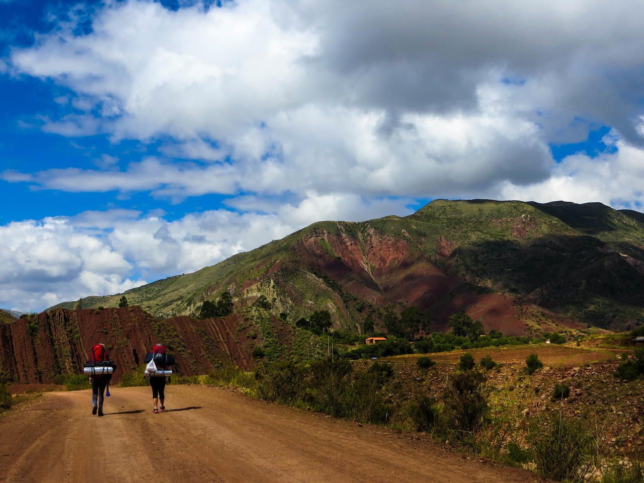 Hiking in the Mountains near Sucre, Bolivia