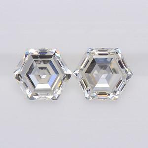 0.76 Hexagonal Step Cut Pair J-VS+ (NC18-04)