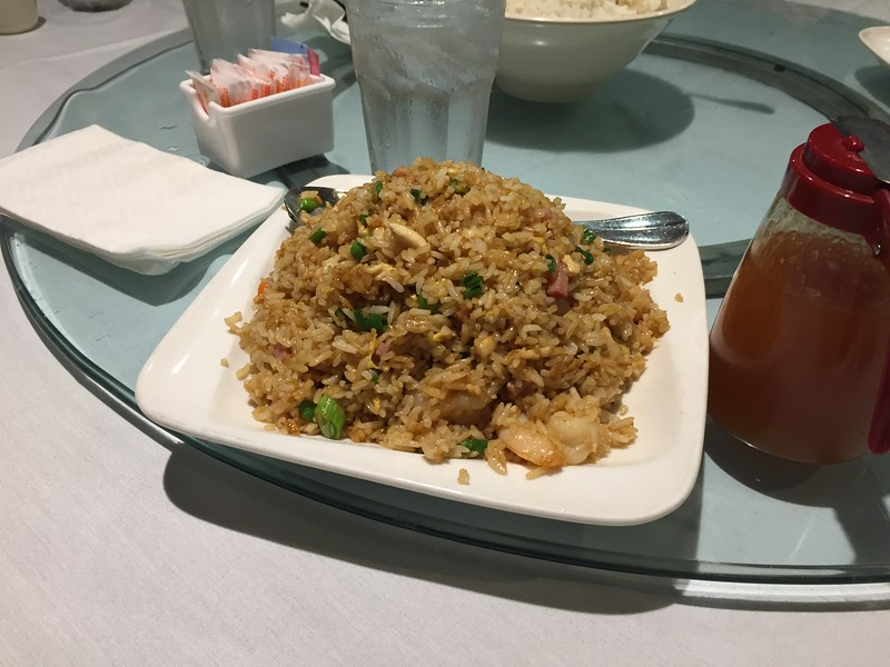Shrimp and chicken fried rice