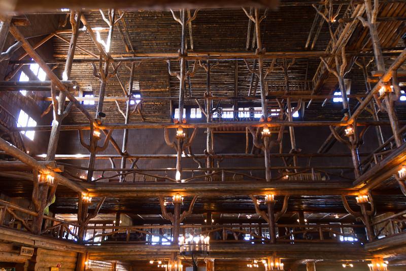 Inside the lobby.