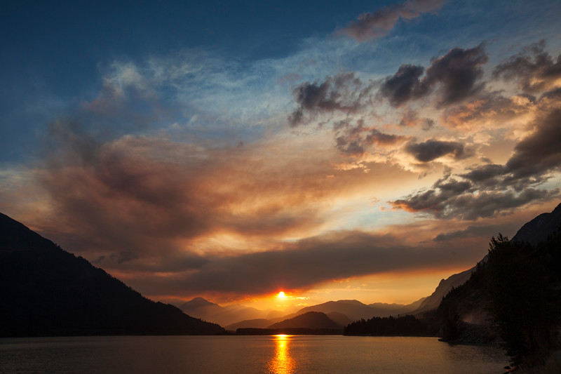 Forest fire sky British Columbia, Canada