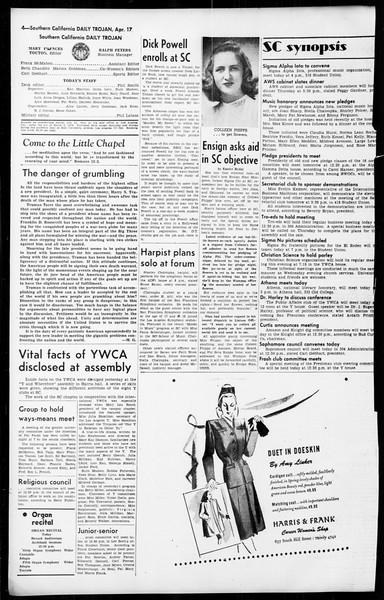 Daily Trojan, Vol. 36, No. 102, April 17, 1945