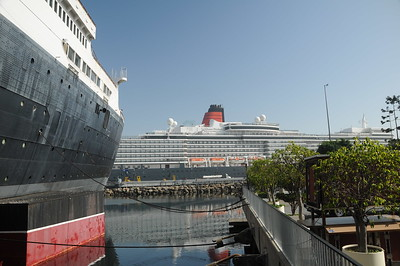 Queen Elizabeth visits Queen Mary at Long Beach, Feb 2015