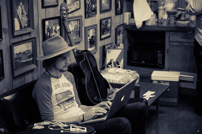 Josh Bue with The Texas Gentlemen at Fame Studios in Muscle Shoals