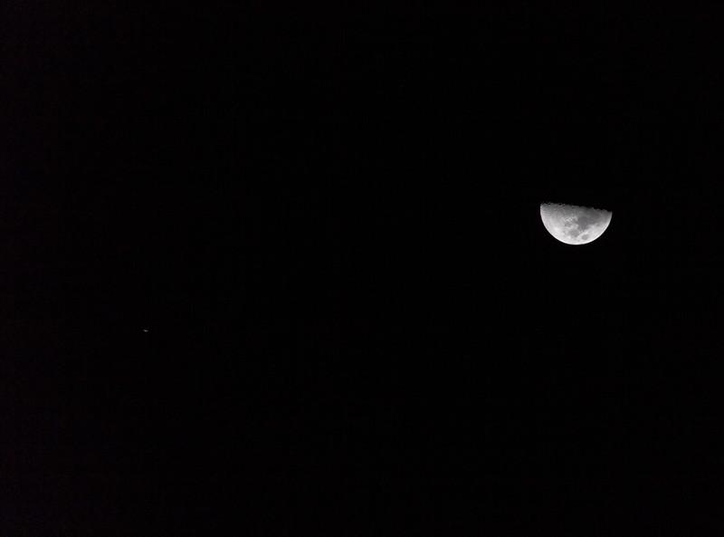 Moon and Jupiter - 1/7/2017 (Processed single image)