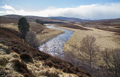 Geallaig and river Gairn March 2017