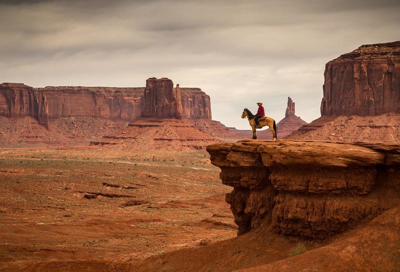Navajo on horse at John Ford's Point