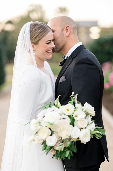 Stepanie and Steven's Wedding Romantic Portraits at the Centennial Gardens in Houston, TX