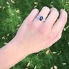 2.08ctw Sapphire and Diamond Ring, GIA No-Heat 32