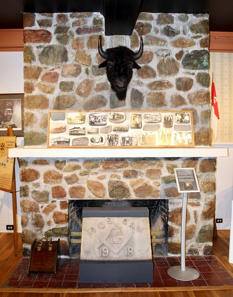 Fireplace inside Fort Huachuca Museum (2019)