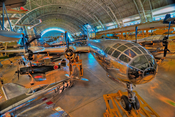 "The Boeing B-29 Superfortress ""Enola Gay""  on display in the Steven F. Udvar-Hazy Center in Chantilly, Virginia."