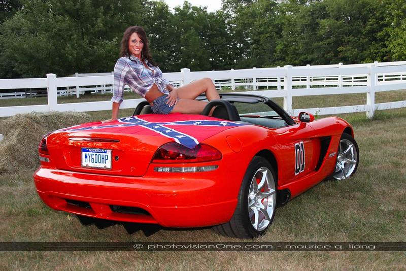 Daisy Dukes Upgraded.  2009 Viper SRT10.  Model: Missy