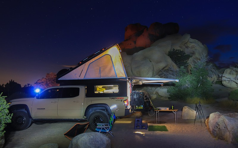 Our campsite in Hidden Valley Campground, Joshua Tree N.P.