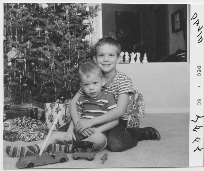 Jeff, David, Christmas 1960