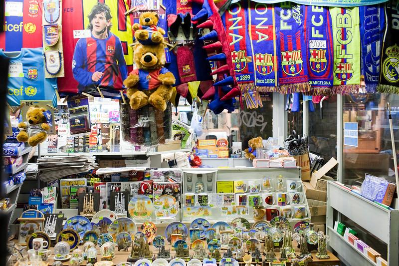 Typical kiosk at Las Ramblas, town of Barcelona, autonomous commnunity of Catalonia, northeastern Spain