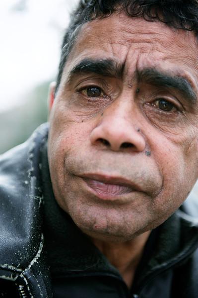 Indigenous Australian Elder Looking at Viewer