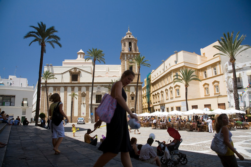 Colorful, appealing image of Cadiz downtown, Spain.