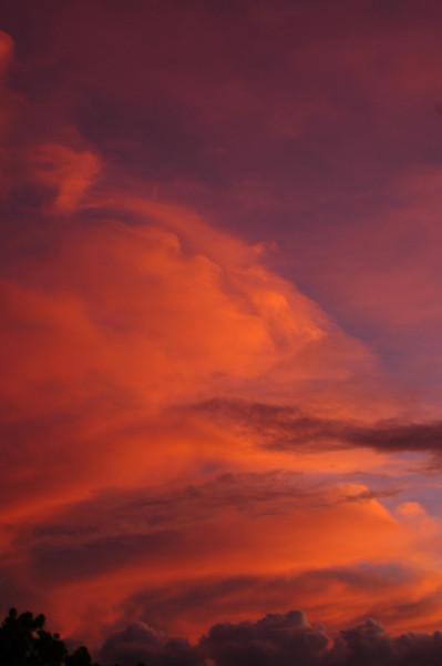 Colorful clouds at sunset   North Shore of O'ahu, Hawai'i