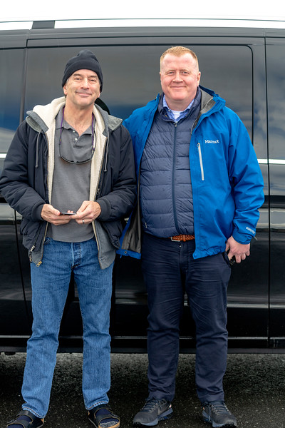 Sean with our excellent driver, Johann