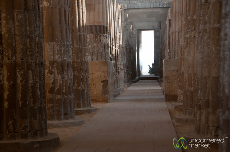 Columned Entrance to Saqqara - Egypt