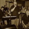 The Westchester Swing Band directed by bandleader/percussionist Greg Westhoff with Joe Carpentieri on lead vocals, 12 Grapes, Peekskill NY.  Aug, 2013