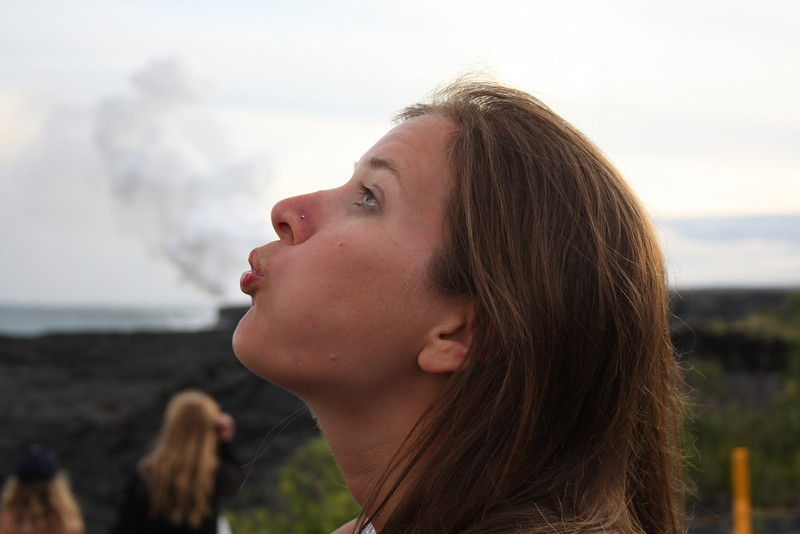 Sarah blowing off steam