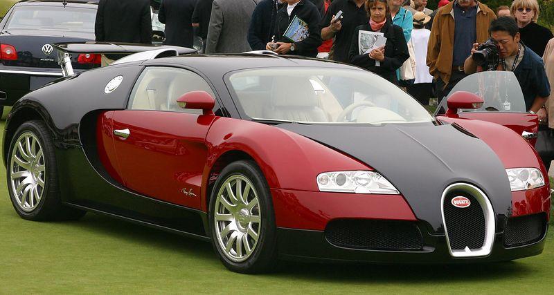 16-cylinder, 1001 horsepower Bugatti Veyron 16.4