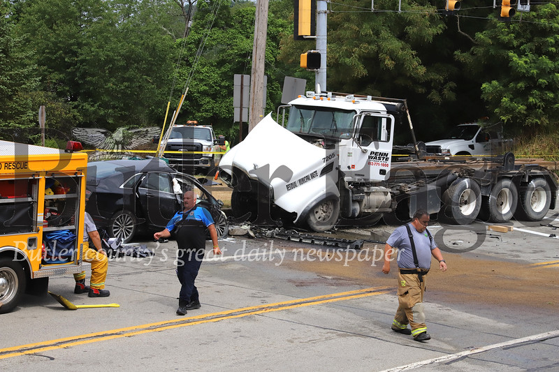 Fatal accident on Route 8 Wednesday morning. Seb Foltz/Butler Eagle 7/22/20