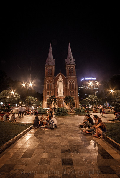 District 1 Saigon, Vietnam. Notre Dame Cathedral, Post Office, Opera House