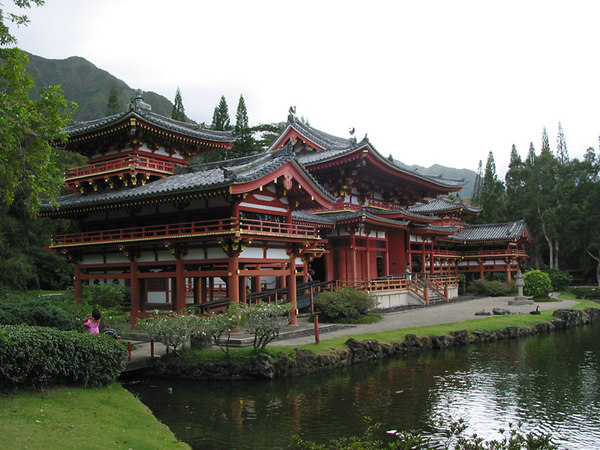 Chinese temple, northern side of Maui, Hawaii.