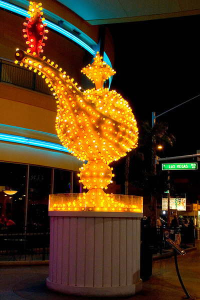 We loved looking at the old glitzy lights.