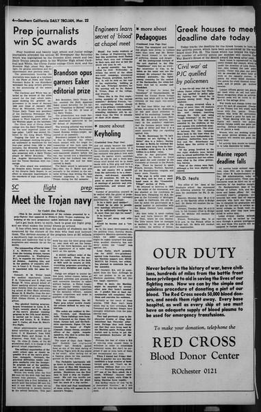 Daily Trojan, Vol. 34, No. 109, March 22, 1943
