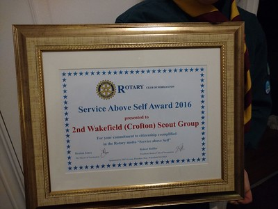 SCOUTS: Rotary Club Young Person Awards