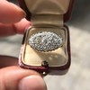 1.64ctw Vintage Princess Style Oval Cluster Ring 15
