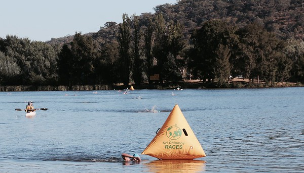 Sri Chinmoy Lake Swims, Canberra, 19 February 2017