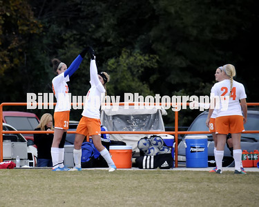 2013 Region 1 Girls Soccer Tournament Semi-final Game Marshall County vs. St. Mary, October 27, 2013. Lady Marshals Won 10-0 With The Game Stopped With 20:11 Left In The Second Half.