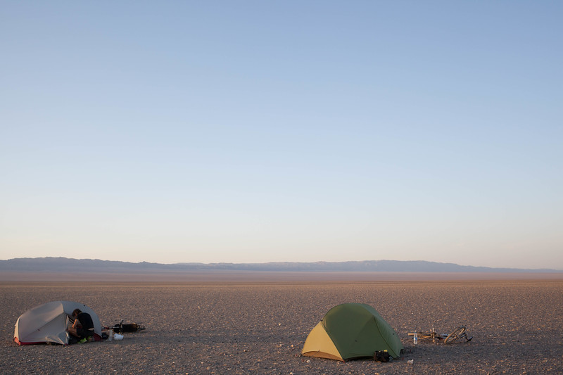 Wild Camping in the Gobi desert, Mongolia