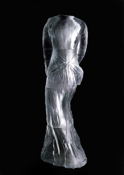 Vestige | Seminal Life-Size Artwork of Cast Glass Dress