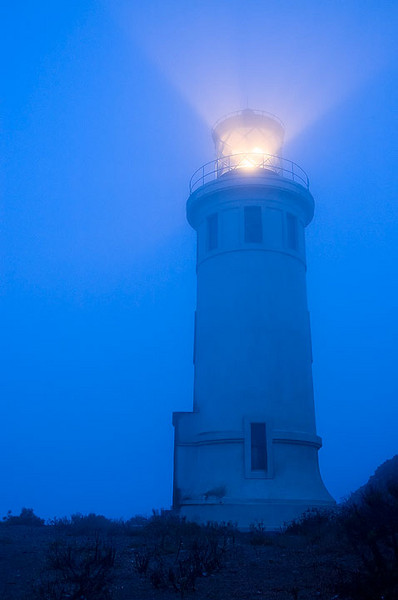 The Light House in fog on Anacapa Island