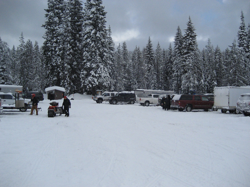 Snowmobile area