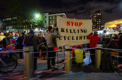 "Stop Killing Cyclists ""die in"" protest at Transport for London, 29 November, 2013"