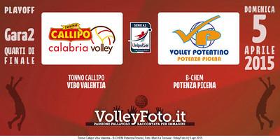 Tonno Callipo Vibo Valentia - B-CHEM Potenza Picena   Gara 2 Quarti PlayOff