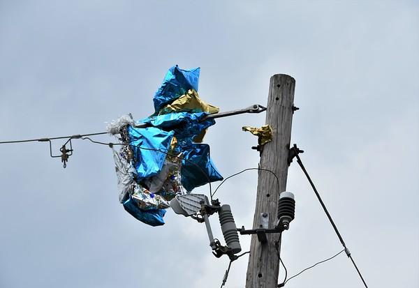 Hazleton city 139 balloons into power lines