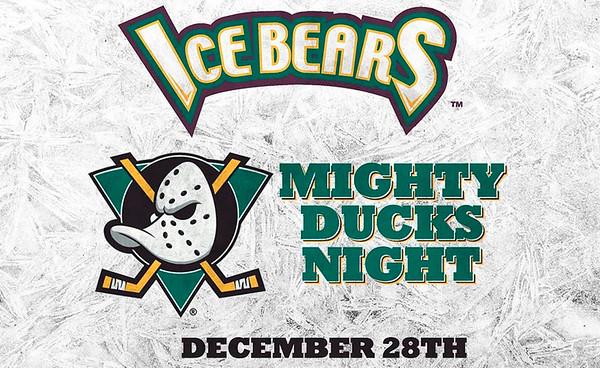 Ice Bears (2) v Fayetteville (5) 12-28-19 Mighty Ducks Night