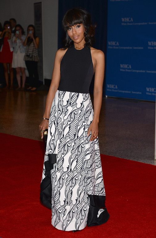 . WASHINGTON, DC - APRIL 27:  Actress Kerry Washington attends the White House Correspondents\' Association Dinner at the Washington Hilton on April 27, 2013 in Washington, DC.  (Photo by Dimitrios Kambouris/Getty Images)