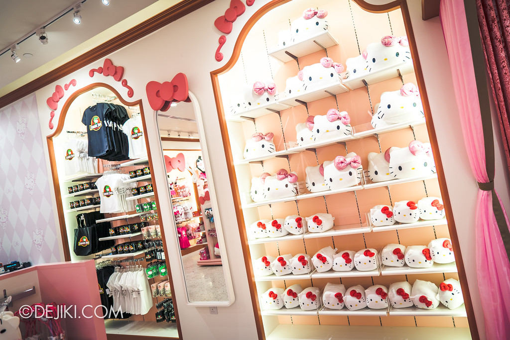 Universal Studios Singapore - Hello Kitty Studio store / plush toys and Jurassic Park Kitty