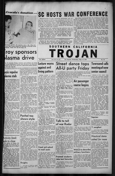 Southern California Trojan, Vol. 35, No. 32, September 15, 1943