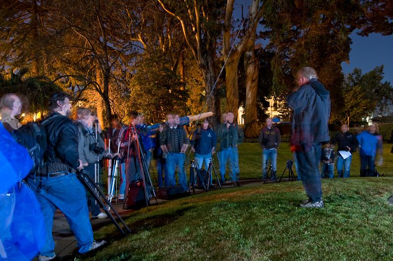 Mare Island - Nocturnes Workshop  Tim Baskerville holding court.
