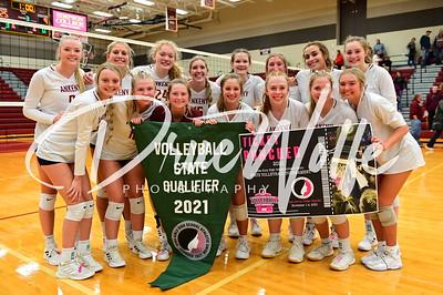 Ankeny Hawkettes Volleyball Regional  Final vs. Iowa City 10262021